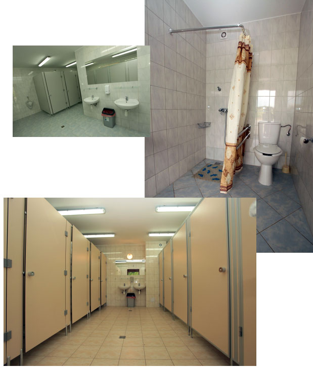 Prysznice, ubikacje