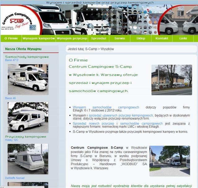 strona internetowa S-Camp