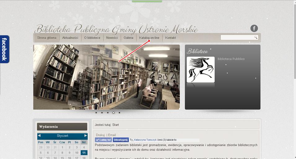 strona biblioteki publicznej gminy ustronie morskie