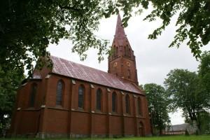 Neogotycki Kościół pod wezwaniem Podwyższenia Krzyża Świętego- Karcino
