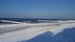 plaza zima ustronie morskie