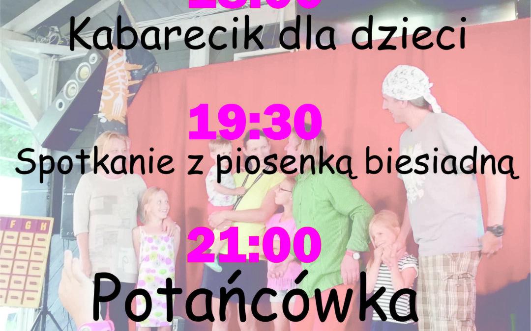 Fotorelacja – kabaret dla dzieci, potańcówka – 3.8.2019